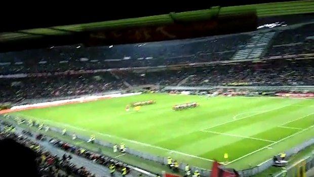 Atmosfera pred utakmicu polufinala Kupa Italije Milan - Lacio