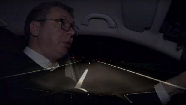 Ekskluzivno: Predsednik Vučić vozi ekipu Telegrafa novim auto-putem