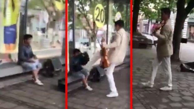 Violinista u centru Beograda zarađuje za hleb, a u Kraljevu napada dete na ulici