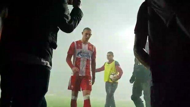 Igračima Zvezde pao mrak na oči zbog nevremena, kiša psovki u tunelu